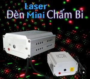 Đèn laser mini chấm bi, Đèn laser mini cho phòng hát kraoke, quán bar, phòng trà