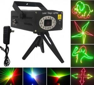 Đèn laser mini nhiều màu quét hình, Đèn laser mini cho phòng hát kraoke, quán bar, phòng trà