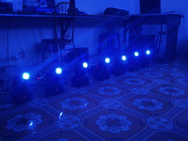 Demo đèn moving head mini 10W