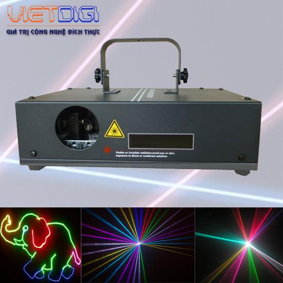 Đèn laser 1 cửa 7 mầu B2000 RGB