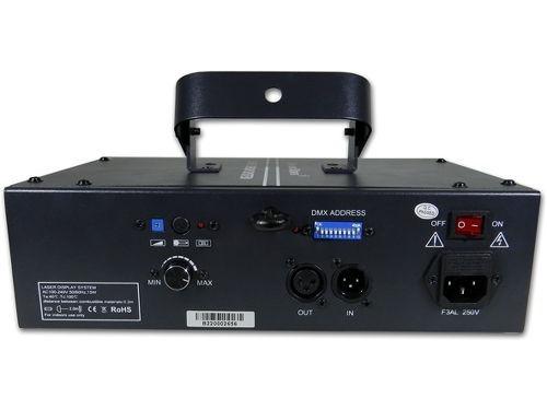 Mặt sau đèn laser 1 cửa 7 mầu B2000 RGB