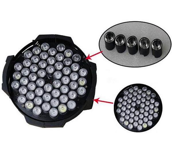 Cấu tạo đèn PAR LED 54x3W RGBW