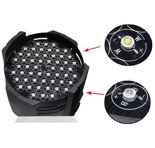 Bóng đèn PAR LED 54x3W RGBW