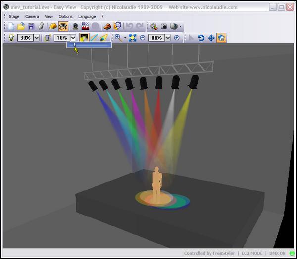 Giao diện mô phỏng 3D của phần mềm