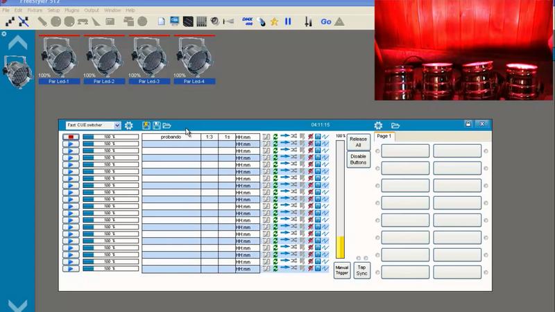 Giao diện phần mềm Frestyle - điều khiển đèn sân khấu theo chuẩn DMX512