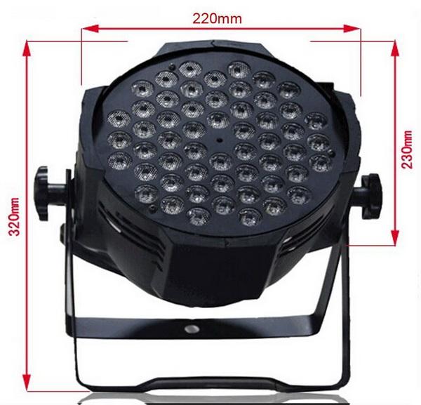 Kích thước đèn PAR LED 54x3W RGBW
