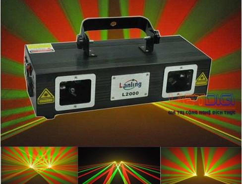 Đèn laser 2 cửa 3 màu RGY L2000