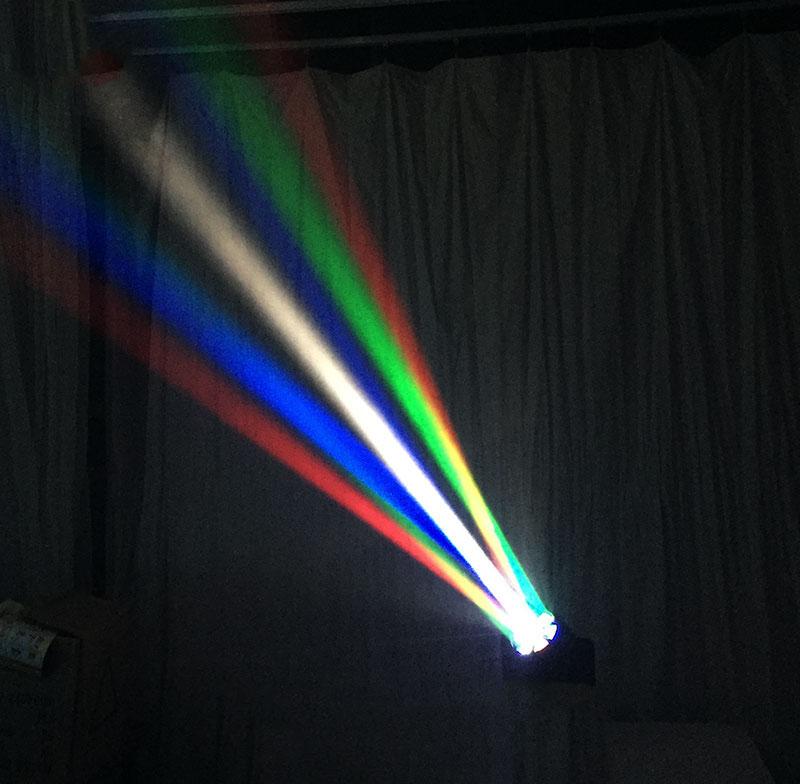 Hiệu ứng chiếu tia đa màu sắc của đèn mắt ong