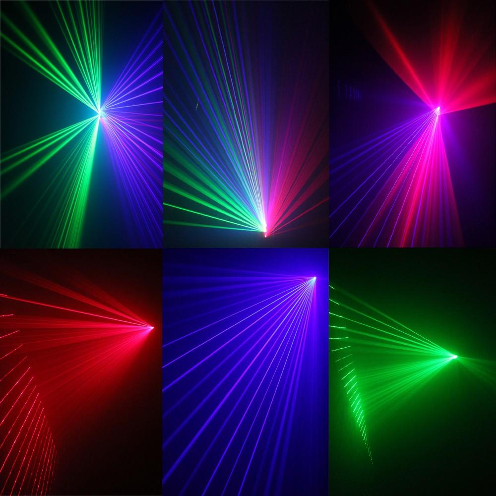 Các hiệu ứng kết hợp của đèn laser TriLa 3 cửa 3 màu