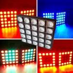 Đèn LED ma trận 5x5 có thể chạy được các hình khác nhau
