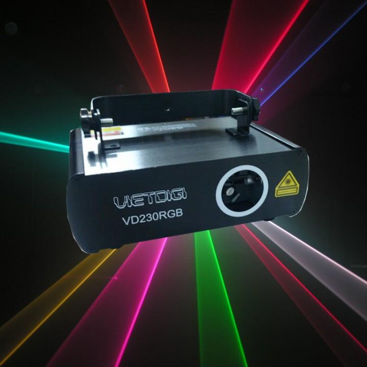 Den laser 1 cua 7 mau VD230RGB va hieu ung