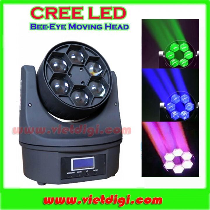 Đèn LED moving head Bee Eye 6 mắt và hiệu ứng