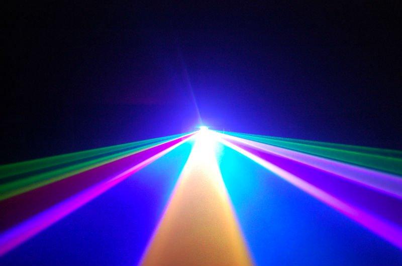 Hieu ung chieu tia den laser 1 cua 7 mau VD230RGB