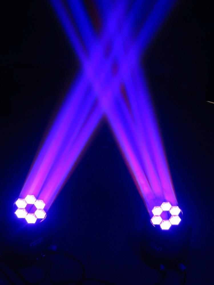 Hiệu ứng chùm tia Đèn LED moving head Bee Eye 6 mắt