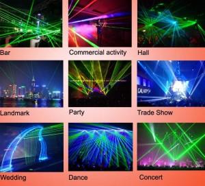 Đèn laser được sử dụng trong nhiều sự kiện, chương trình lớn