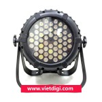 Mặt trước đèn PAR LED 54x3W RGBW outdoor, chịu nước, sử dụng ngoài trời