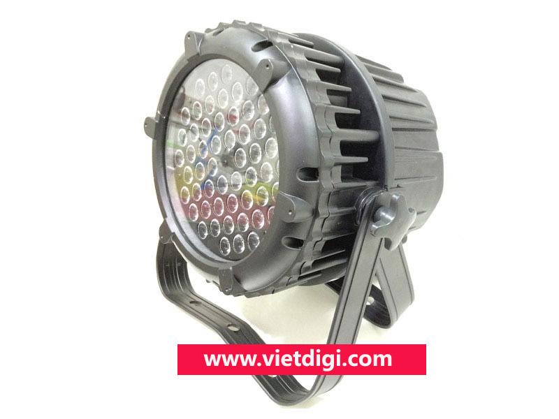 Mặt bên đèn PAR LED 54x3W RGBW outdoor, chịu nước, sử dụng ngoài trời