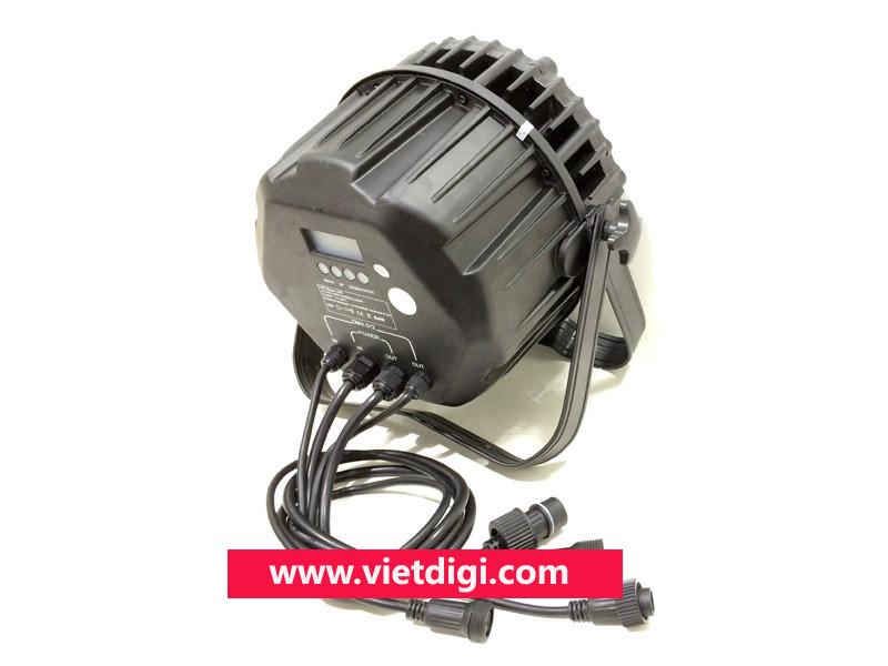Mặt sau đèn PAR LED 54x3W RGBW outdoor, chịu nước, sử dụng ngoài trời