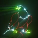 Đèn laser công suất lớn 10W RGB animation thuộc đèn laser có công suất lớn, tạo hiệu ứng laser mạnh mẽ, phù hợp với vũ trường, các sân khấu, hội trường lớn.