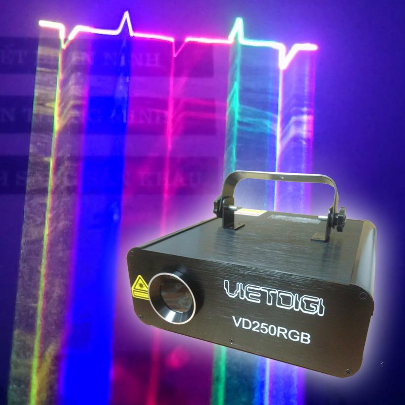 Đèn laser chiếu tia quét hình 7 màu VD250RGB