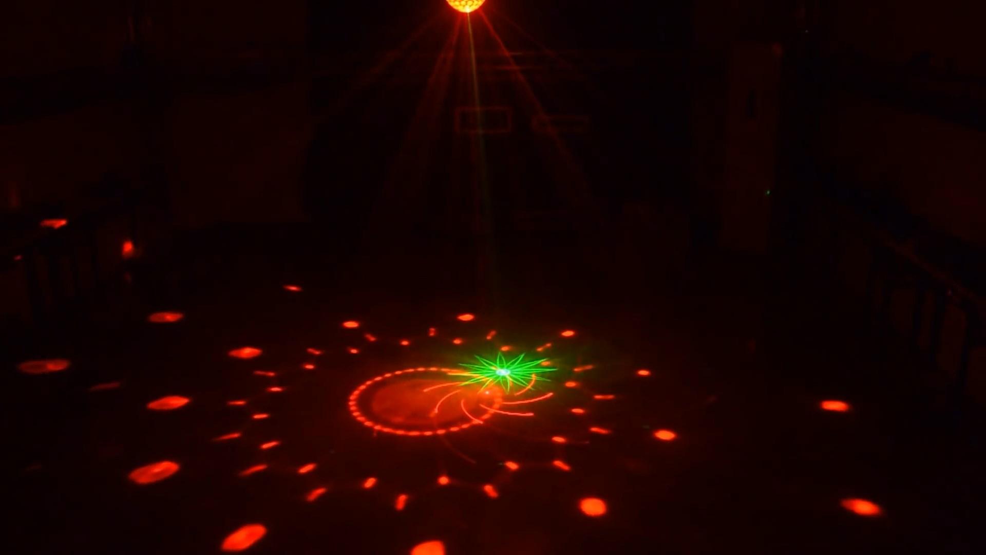 Đèn nấm đĩa bay laser+led thay đổi màu sắc