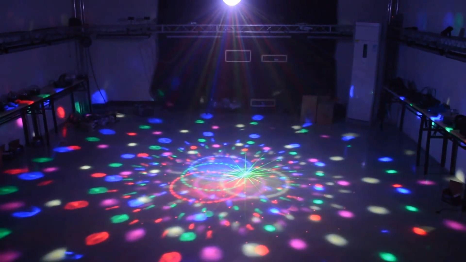 Hiệu ứng Đèn nấm đĩa bay laser+led