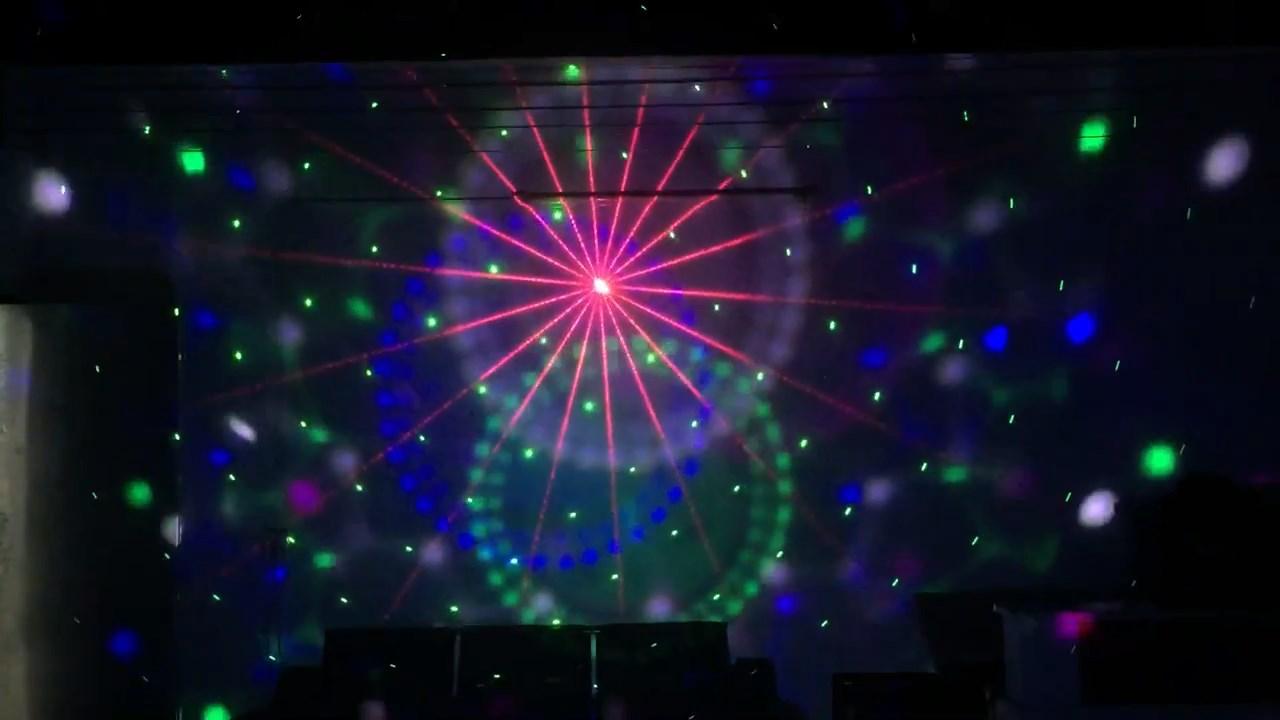Gobo hình Laser và tia sáng LED của đèn đĩa bay