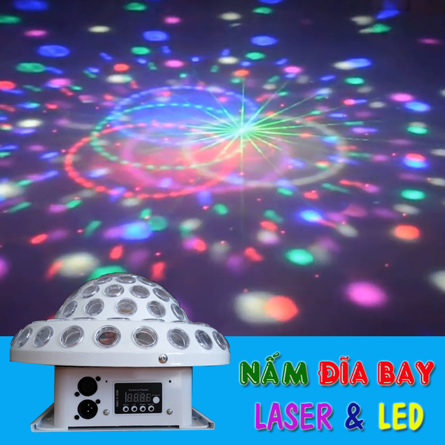Đèn nám LED đĩa bay laser LED và hiệu ứng