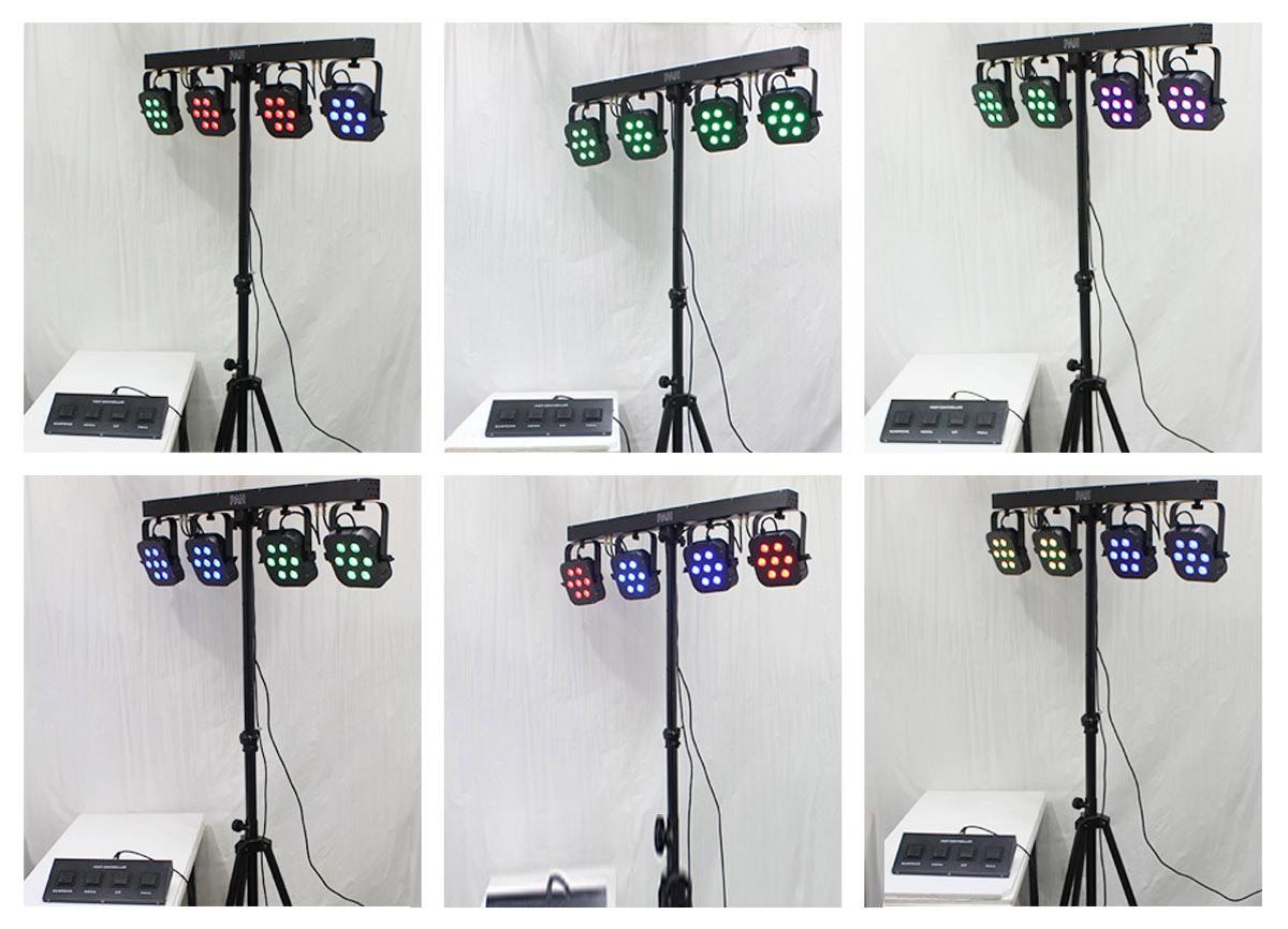 Hình ảnh Bộ cây 4 đèn par, đèn par các loại, chân giá treo đèn sân khấu