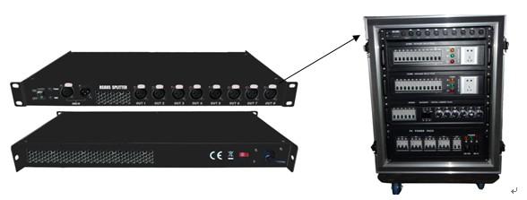Bộ chia và cách ly tín hiệu DMX 1 vào 8 ra