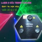 Đèn laser 3 cửa trung tâm VD233RGB và hiệu ứng