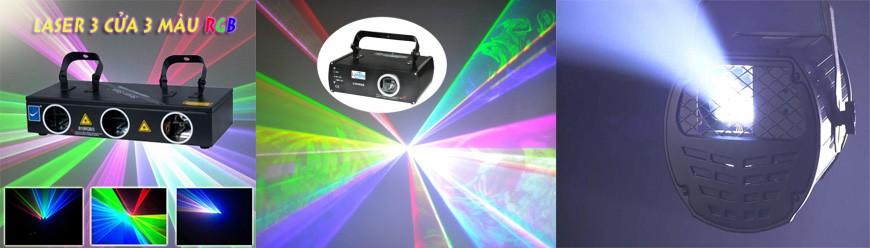 den laser cho san khau
