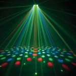 Đèn led+laser 2 trong 1 , đèn kết hợp hiệu ứng led với laser