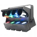 Đèn led scanner 4 mắt sử dụng 4 hệ ống trụ gương quay để phản xạ ánh sáng màu led, mang ánh sáng trải khắp gian phòng, đèn sân khấu dành cho quán bar,club, karaoke, phòng trà.