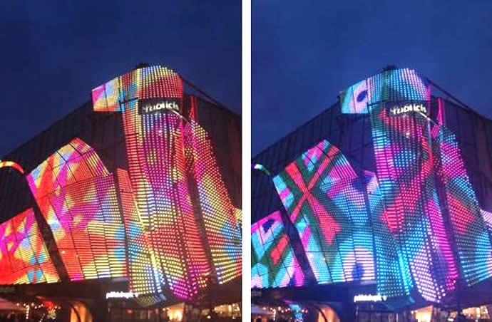 Đặc điểm nổi bật của đèn LED trang trí kiến trúc là sự phối hợp pha trộn màu sắc để chiếu sáng đổi màu cho công trình kiến trúc và rất tiết kiệm điện với độ bền rất cao.