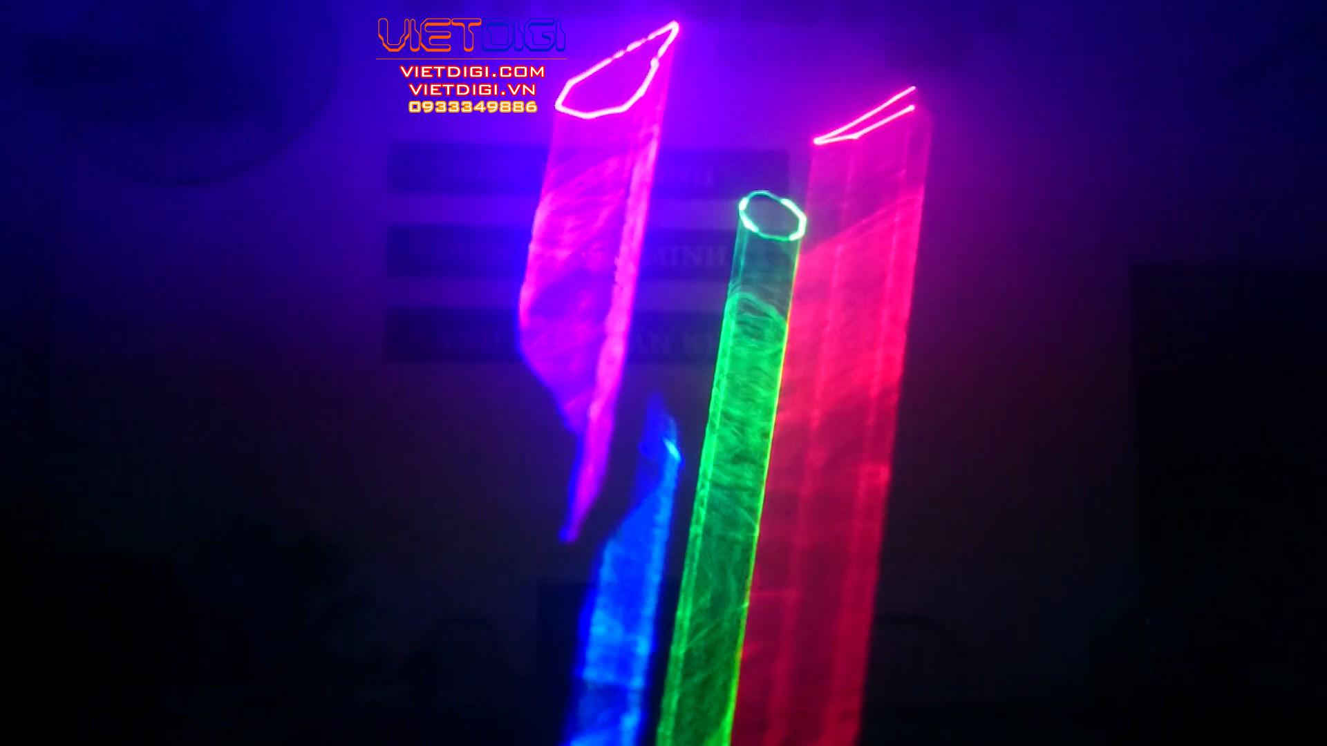 Hiệu ứng 3D của đèn laser VD250RGB