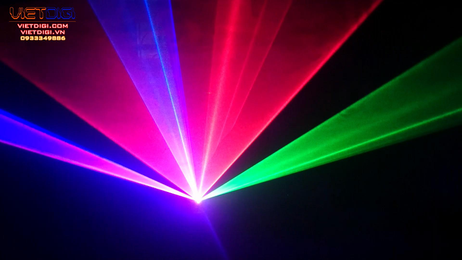 Chùm tia nhiều màu sắc của VD250RGB