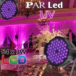 Đèn par led ánh sáng tím UV, đèn par led sân khấu.