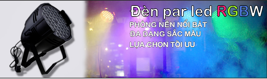 Đèn par led full color RGBW, đèn par led sân khấu