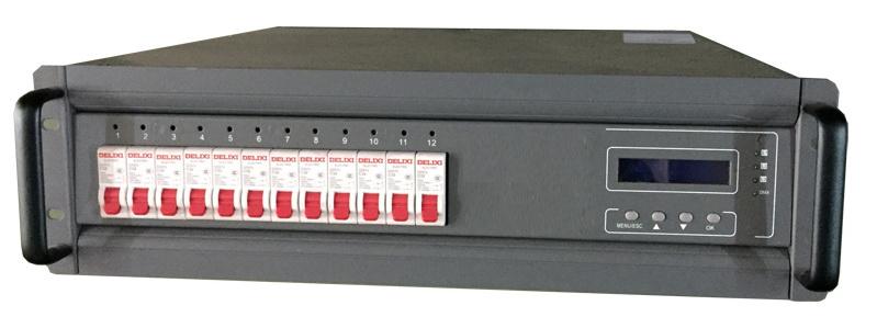 bộ điều khiển công suất dimmer 12 kênh, sử dụng cho đèn par halogen, máng halogen, fresnel...