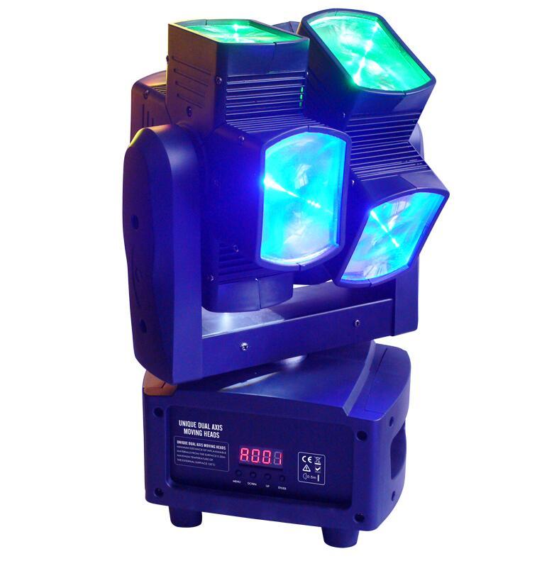Đèn  moving head duro trục kép sử dụng bóng 10W RGBW