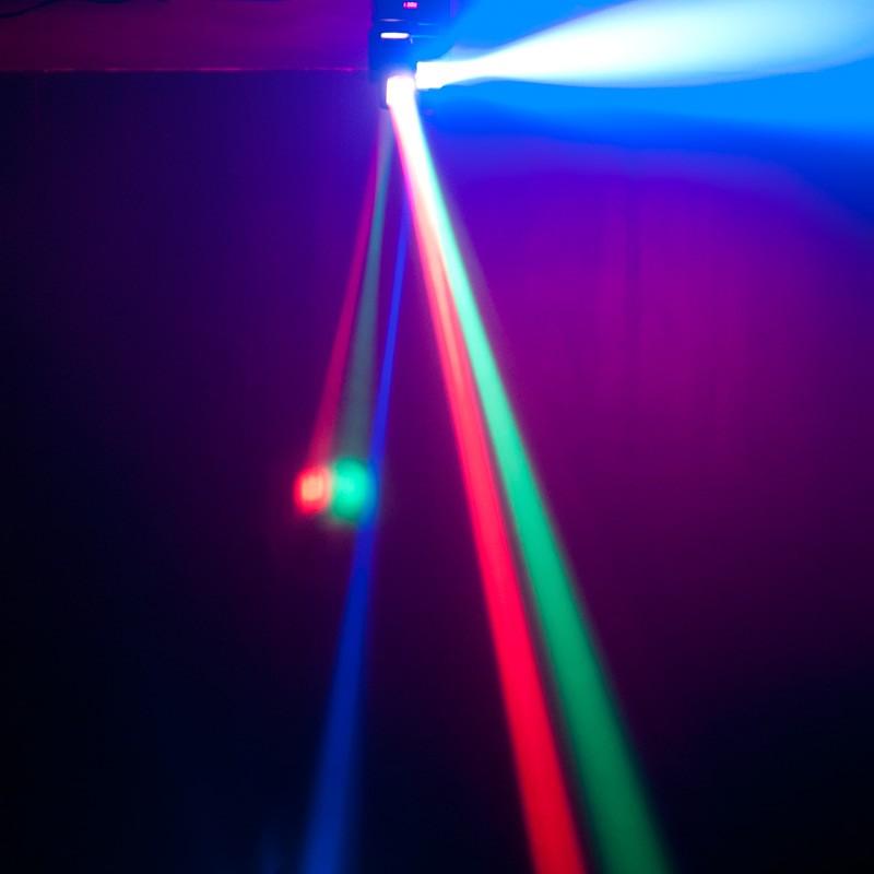 Hiệu ứng đèn moving head trục đảo kép Duro