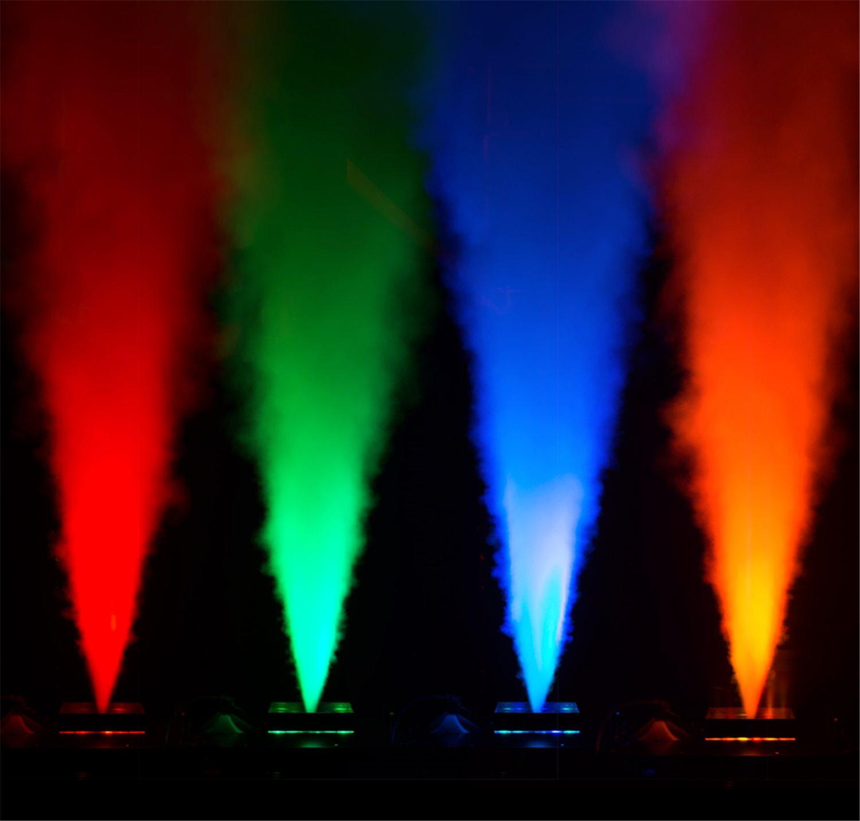 Đèn LED nhuộm màu sắc của khói