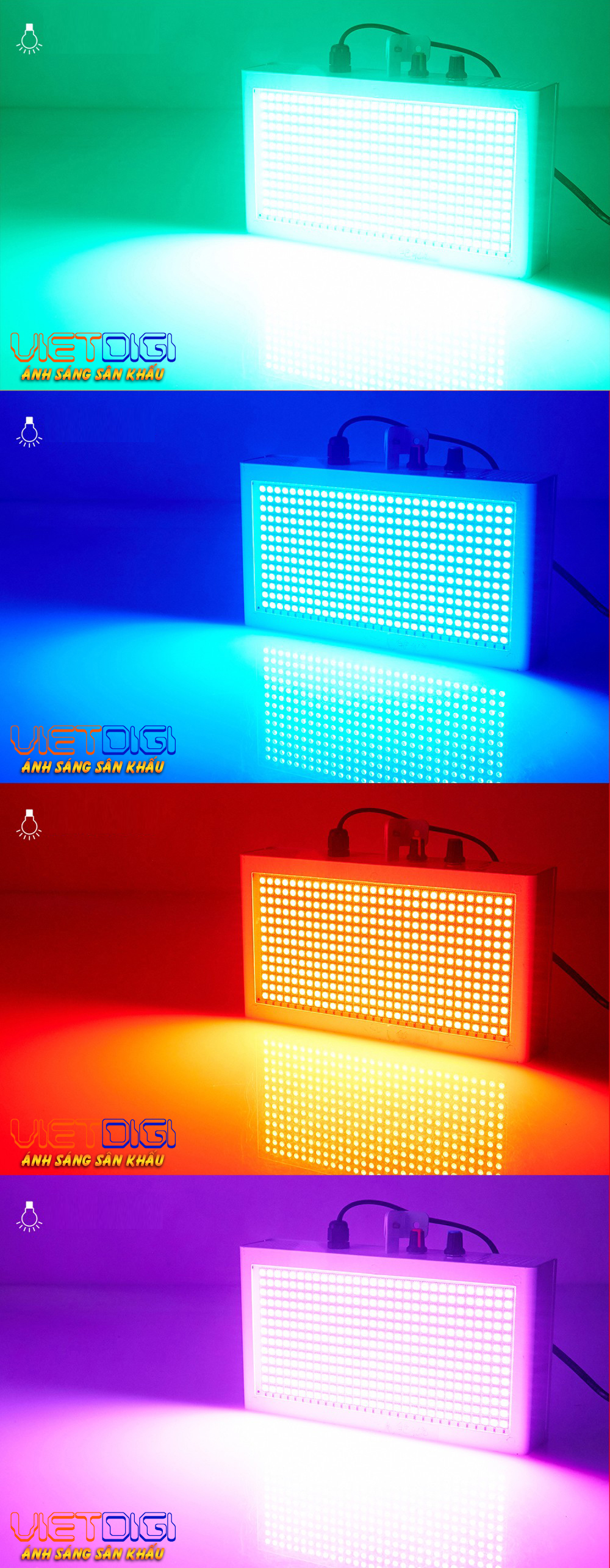 Hiệu ứng ánh sáng của đèn chớp LED 7 màu 390 bóng