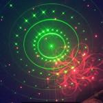 Hình chiếu laser của đèn nấm pha lê LED Laser