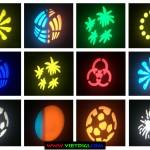 Các hình chiếu và màu sắc của đèn moving head spot mini 10W