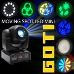 Hiệu ứng, gobo hình và màu sắc ánh sáng của mini spot 10W