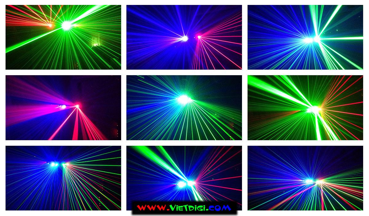 Các hiệu ứng của đèn laser 6 mắt