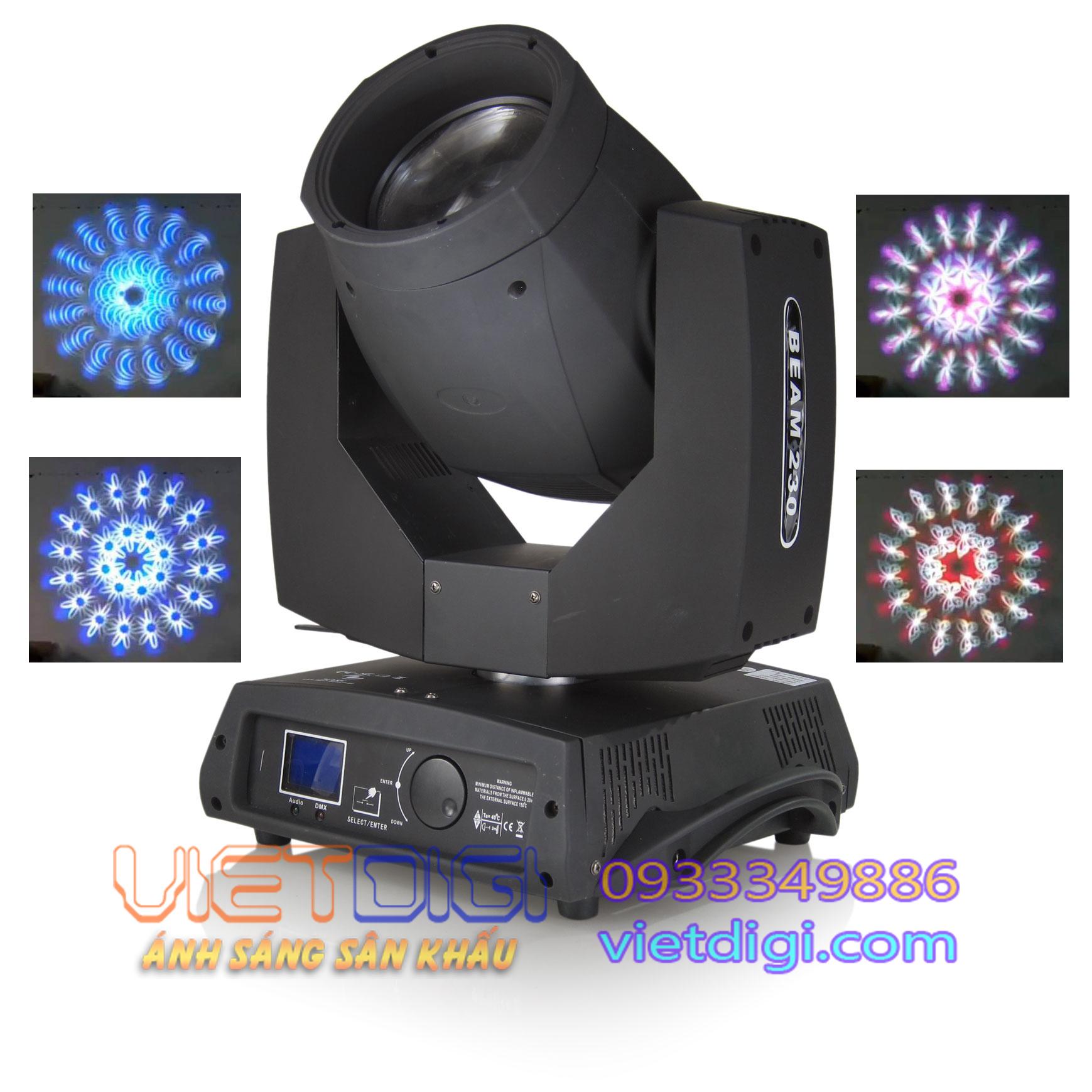 Đèn moving head beam 230 loại mới và hiệu ứng