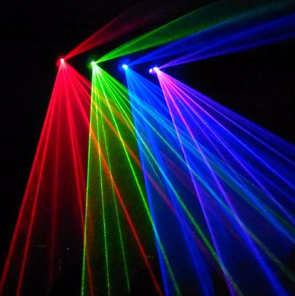 Tia quét của đèn laser quét tia 4 cửa 4 màu